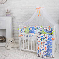 Комплект детского постельного белья  Бэби дизайн Самолеты, фото 1