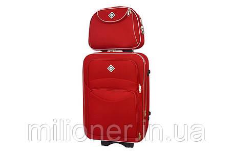 Комплект чемодан + кейс Bonro Style (средний) красный, фото 2