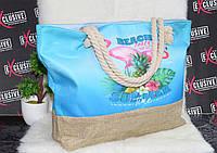 Пляжная голубая сумка Вечеринка на пляже, фото 1