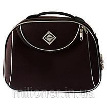 Комплект чемодан + кейс Bonro Style (средний) коричневый, фото 3