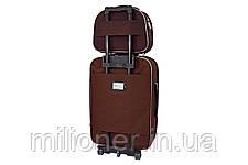 Комплект чемодан + кейс Bonro Style (средний) коричневый, фото 2