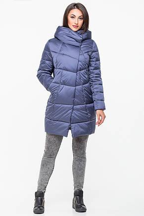 Куртка зимняя женская Kattaleya KTL-203 цвета голубой графит (#593), фото 2