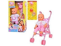 "Кукла пупс ""Маша с коляской"" 5312"