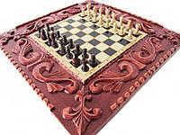 Сувенирные шахматы-нарды ручной работы