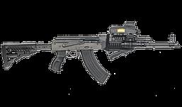 RBTK47FK+GLR16 Чорний приклад телескопічний FAB для AK 47,полімер