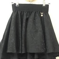 """Школьная юбка для девочки """"жаккард"""" черная"""