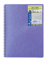 Тетрадь В5, 80л., METALLIC, клетка, на спирали, пластиковая обложка, фиолетовая ВМ.2419-907