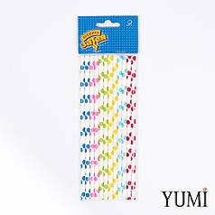 Трубочки бумажные д/коктейля Горошек мульти 12шт.