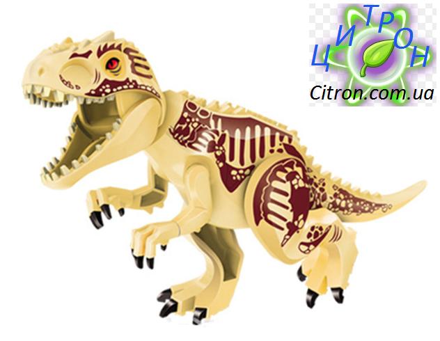 Динозавр Индоминус золотой большой  Длина 29 см. Конструктор динозавр аналог Лего.