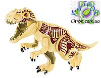 Динозавр Индоминус золотой большой  Длина 29 см. Конструктор динозавр аналог Лего., фото 1