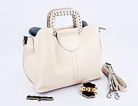 ЛИКВИДАЦИЯ Женская кожаная сумка beige  36*15*13 см (натуральная кожа)