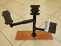 Стойка с верхним креплением дисплея, держателем принтера и держателем банковского терминала