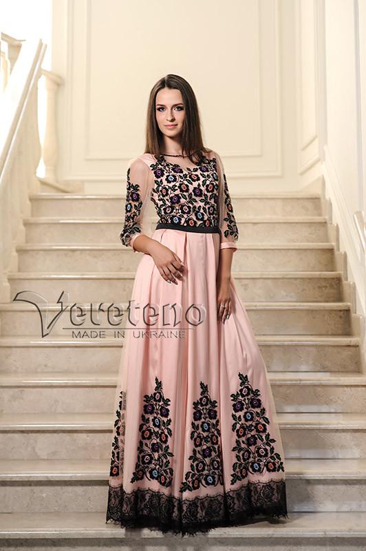 c0228d4d50f456 Вишита жіноча сукня, вишите випускне плаття, плаття з борщівською вишивкою