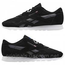Мужские черные кроссовки Reebok Classic Nylon CM9993, фото 2