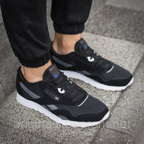Мужские черные кроссовки Reebok Classic Nylon CM9993