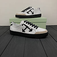 Женские кроссовки Off White Suede White/Beige/Black РЕПЛИКА