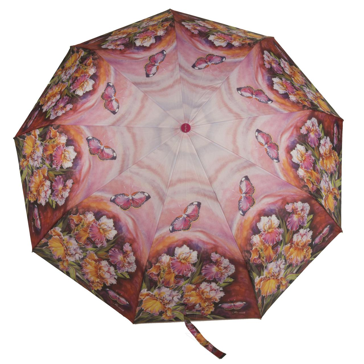 Женский симпатичный прочный зонтик автомат с ярким принтом KINGRAIN UMBRELLA  art. 1603 цветы  (102947)