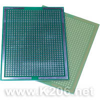 МАКЕТКА K206-074 Плата макетная 99 х 74 мм, односторонняя, зеленая маска