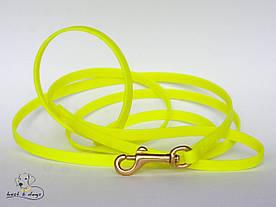 Поводок из биотана(Biothane) Желтый 9,5мм