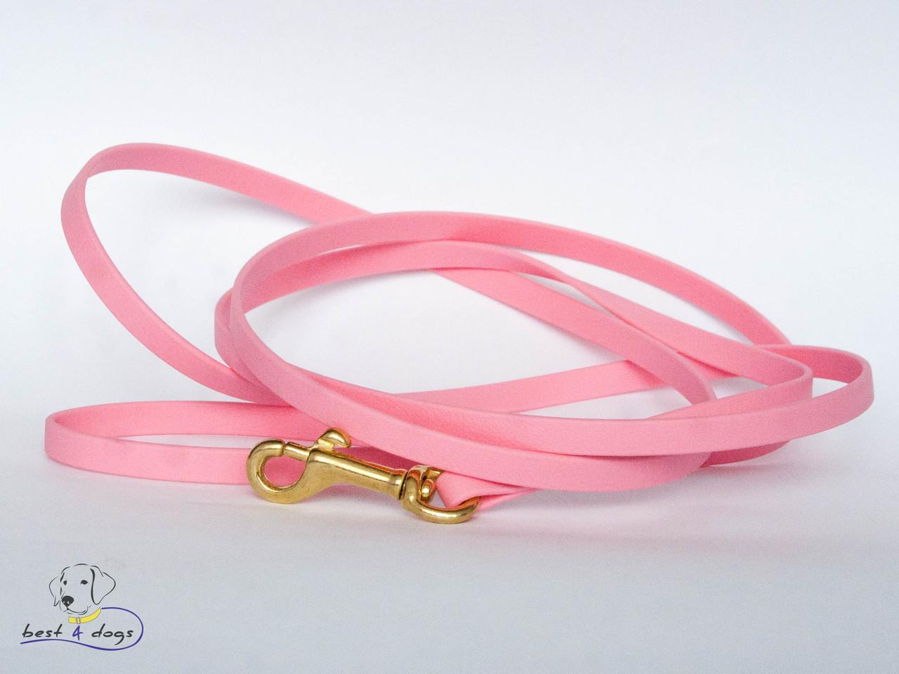 Поводок из биотана(Biothane) Нежно Розовый 9,5мм