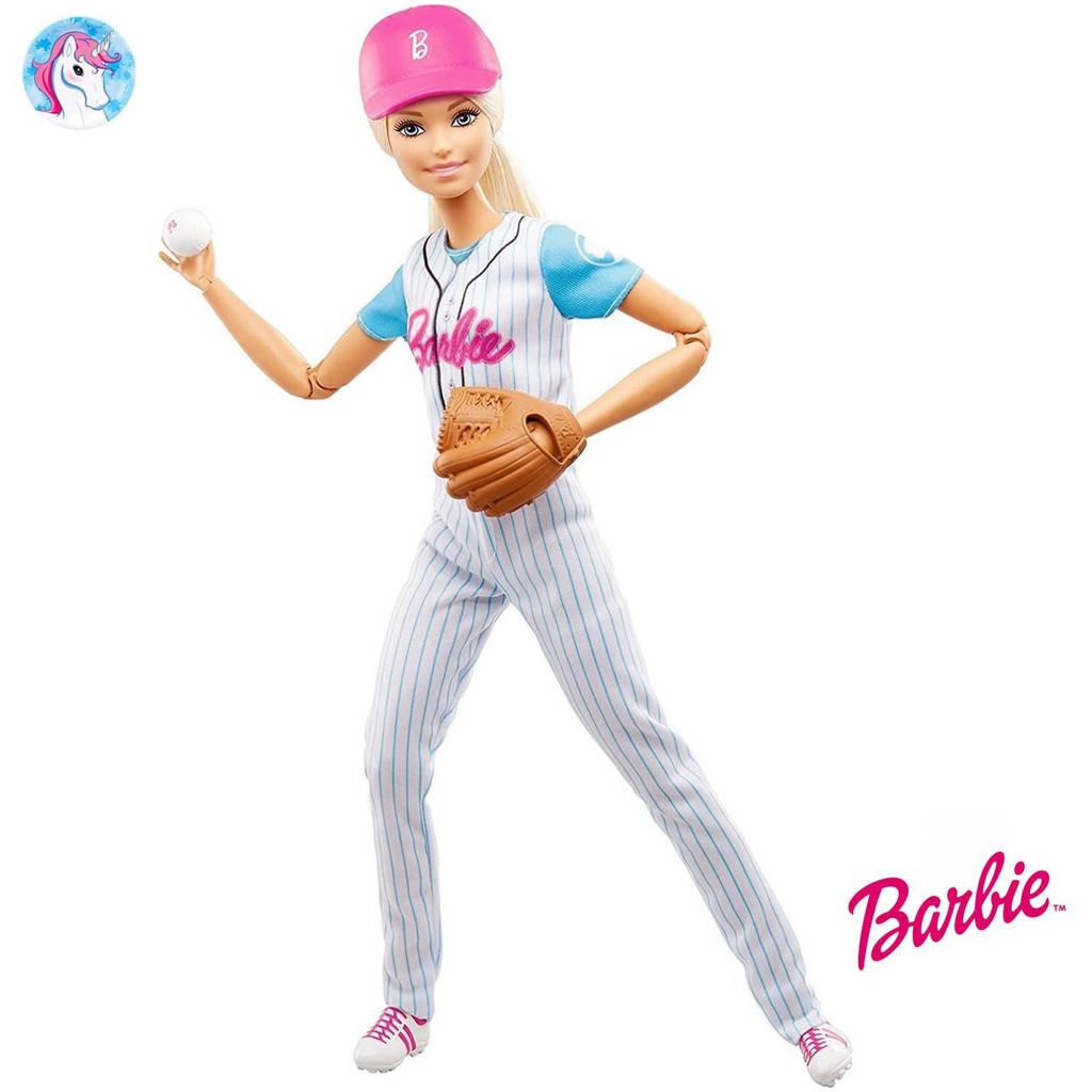Barbie йога Бейсболистка блондинка Барби Made to Move
