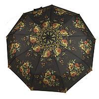 Женский симпатичный прочный зонтик автомат с ярким принтом KINGRAIN UMBRELLA  art. 1603 цветы  (102948), фото 1