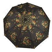 Женский симпатичный прочный зонтик автомат с ярким принтом KINGRAIN UMBRELLA  art. 1603 цветы  (102948)