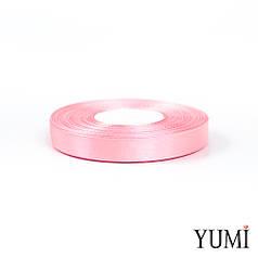Лента атласная 12 мм СВЕТЛО-РОЗОВАЯ (Light Pink)  8036