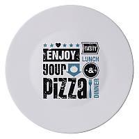 "Тарілка для піци 33 см ""Rustic Pizza & Beer"" блаки_361795"