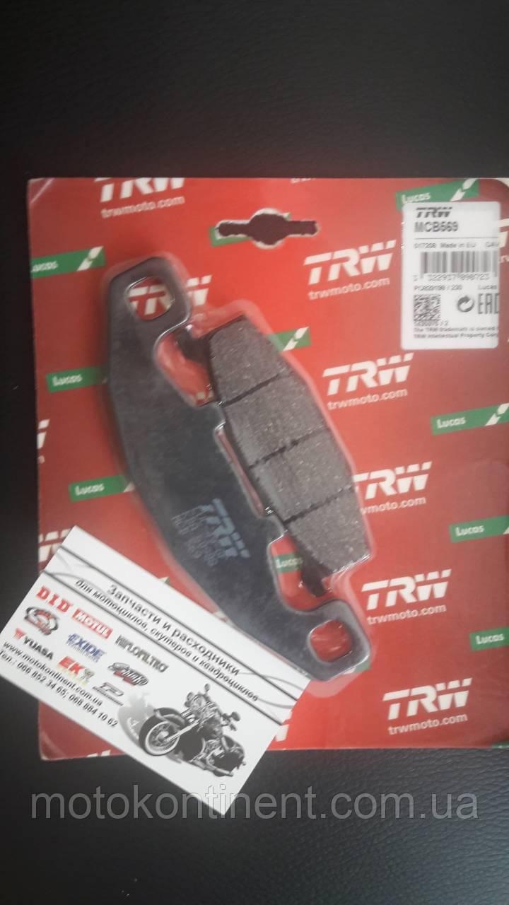 Мото колодки тормозные TRW LUCAS MCB 569 Kawasaki