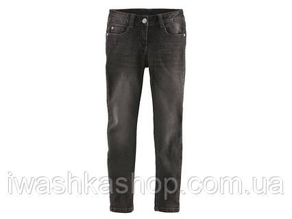 Тёмно - серые стрейчевые джинсы скинни для девочки 13 - 14 лет, размер 164, Pepperts!