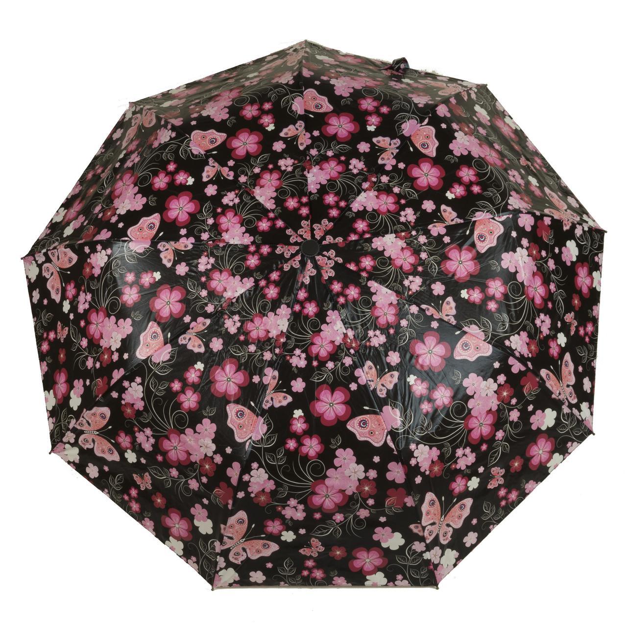 Женский качественный прочный зонтик полуавтомат SUSINO art. 3374 яркий (102952)