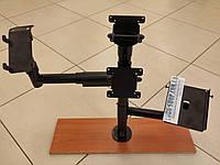 Стойка с верхним и боковым креплениями дисплея, держателем принтера и держателем банковского терминала