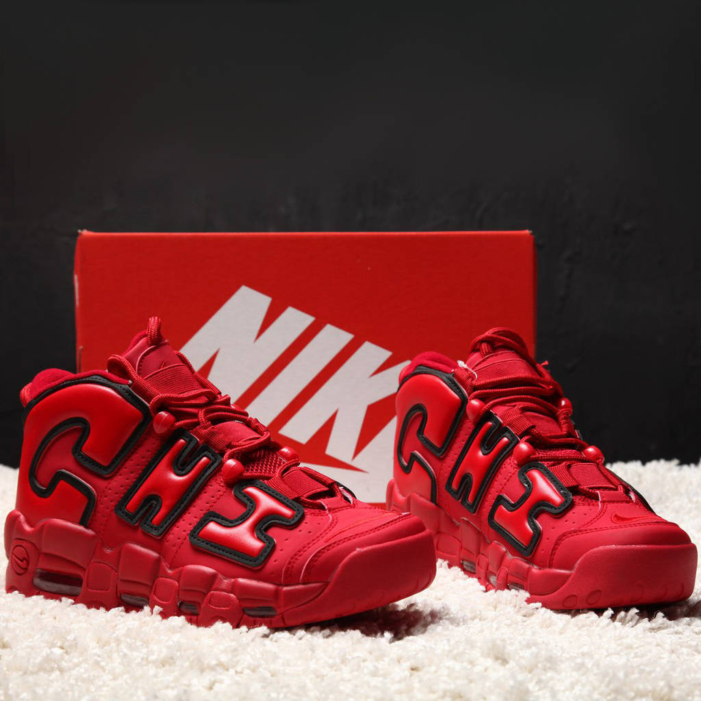 Nike Air More Uptempo X Chicago Red (реплика)