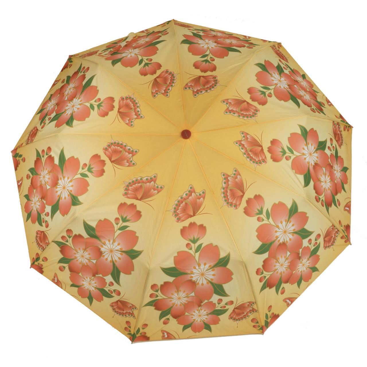 Женский качественный прочный зонтик полуавтомат SUNN RAIN art. 1713 яркий (102953)
