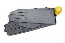 Женские комбинированные перчатки кожа+замша 11-759, фото 2