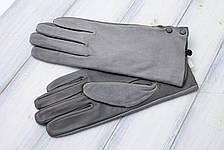 Женские комбинированные перчатки кожа+замша 11-759, фото 3