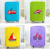 Чехол на чемодан 52*38*22, защита от царапин и загрязнений. Четыре цвета