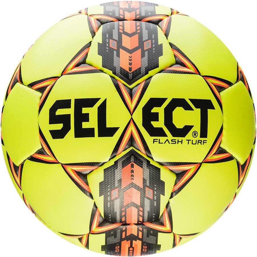 Мяч Футбольный Select Flash Turf IMS, желто-серо-оранжевый, р. 4, 5, не ламинированный
