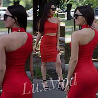 Костюм женский стильный, красный , фото 1