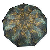 Женский симпатичный прочный зонтик автомат с ярким принтом CALM RAIN  art. 490 природа (102930), фото 1