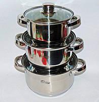 Набор 3 кастрюль с крышками SWITZNER