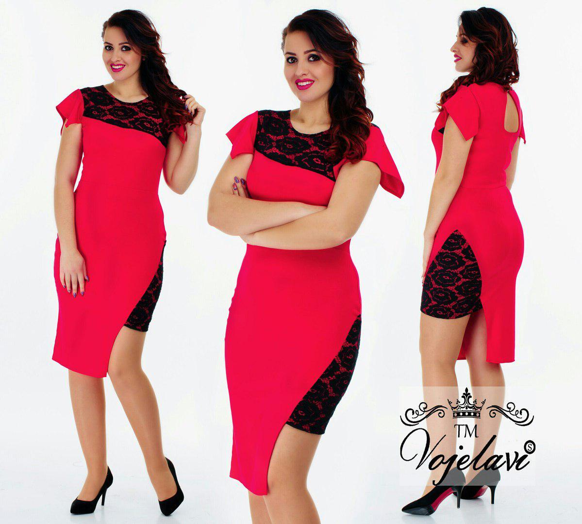 ca3b05c69ba Стильное женское платье с удлиненным боком A1023 оптом и в розницу ...