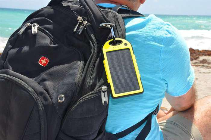 Зарядное устройство power bank 20000 mah solar charger - фото 3