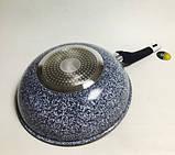 Сковорода 28 см, глубокая (гранитное покрытие) wok, фото 6