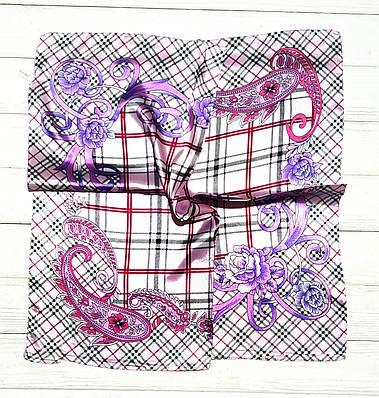 Платок шейный, шелковый