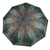 Женский симпатичный прочный зонтик автомат с ярким принтом CALM RAIN  art. 490 природа (102933), фото 1