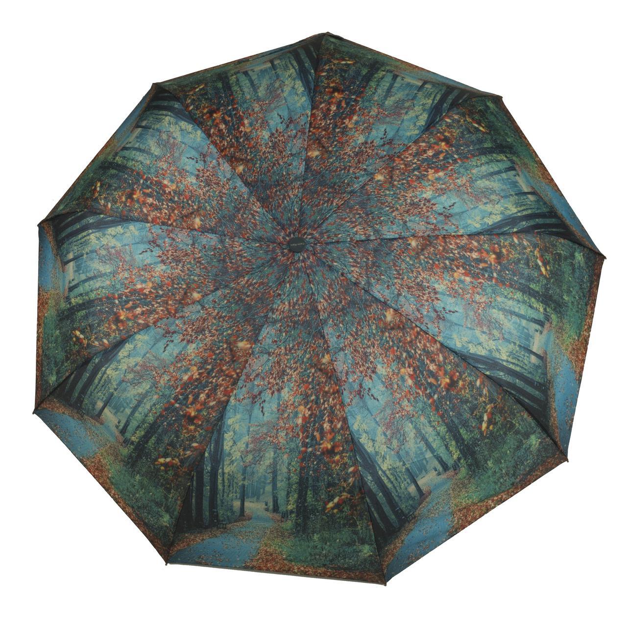 Женский симпатичный прочный зонтик автомат с ярким принтом CALM RAIN  art. 490 природа (102933)