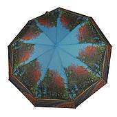 Женский симпатичный прочный зонтик автомат с ярким принтом CALM RAIN  art. 490 природа (102935)