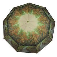 Женский симпатичный прочный зонтик автомат с ярким принтом CALM RAIN  art. 490 природа (102934), фото 1